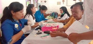 Kegiatan Bakti Sosial Bekerjasama Dengan Yayasan Surya Kebenaran Internasional (YSKI) Dalam Rangka Kongres Nasional Parpunguan Nainggolan SIbatuara (Parnasib) (Samosir, 05 Juli 2019)