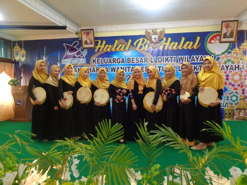 Kegiatan Nasyid Pada Acara Halal Bi Halal Bersama Pimpinan PTS LLDikti Wilayah I (Kantor LLDikti, 18 Juni 2019)